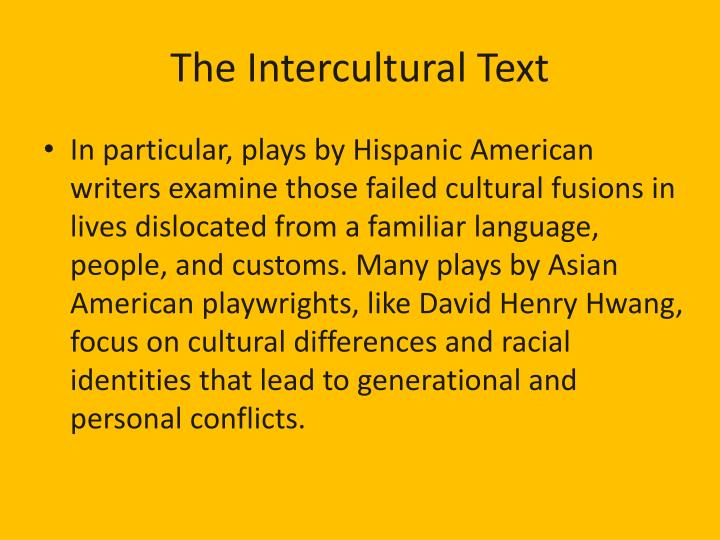 The Intercultural Text