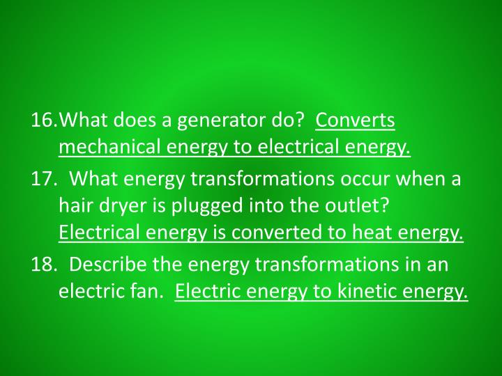 What does a generator do?