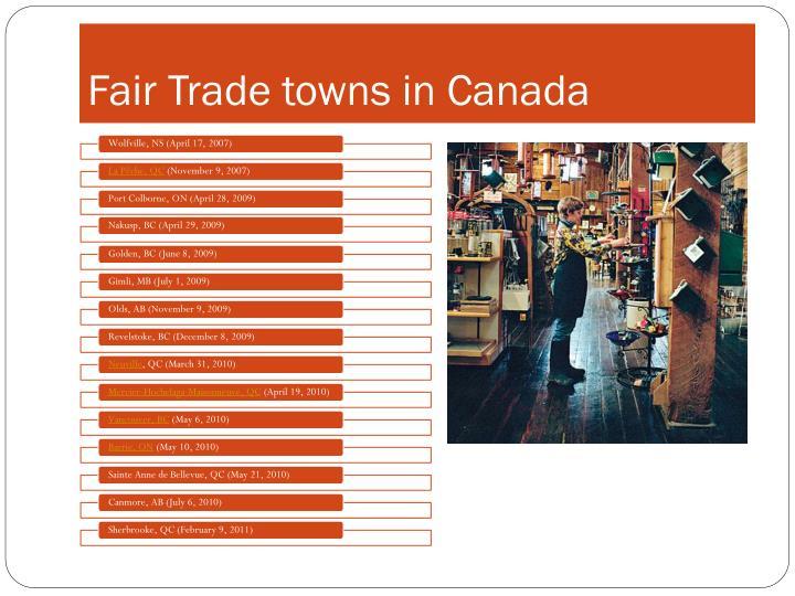 Fair Trade towns in Canada
