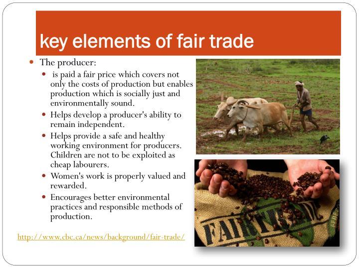 key elements of fair trade