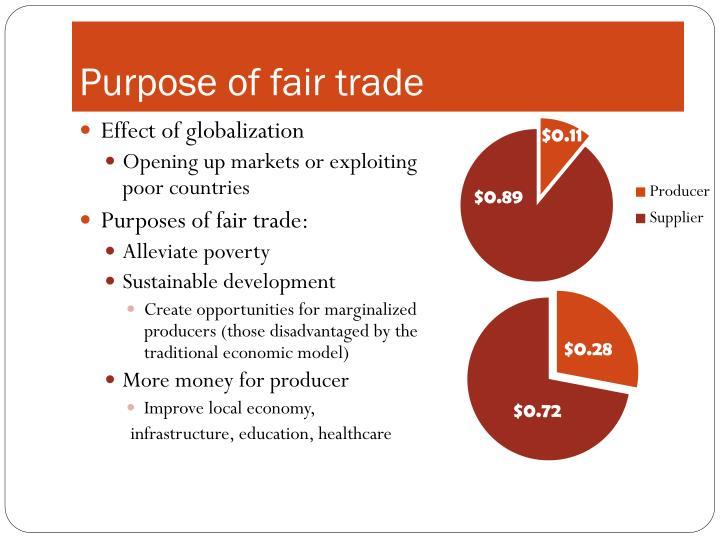 Purpose of fair trade