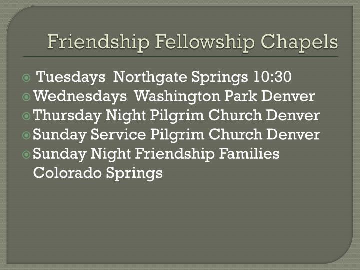 Friendship Fellowship Chapels