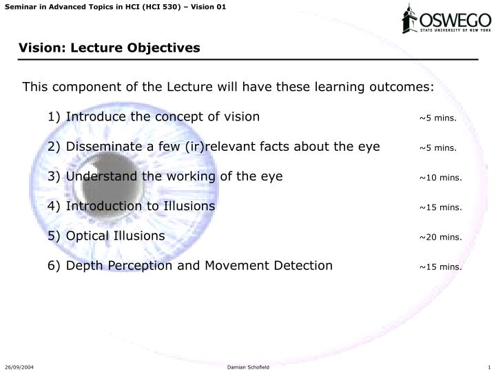 vision lecture objectives n.