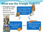 what was the triangle trade