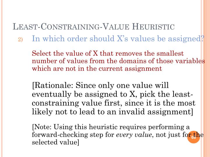 In which order should X's values be assigned?