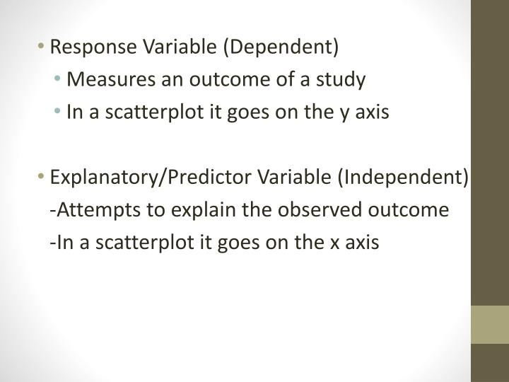 Response Variable (Dependent)