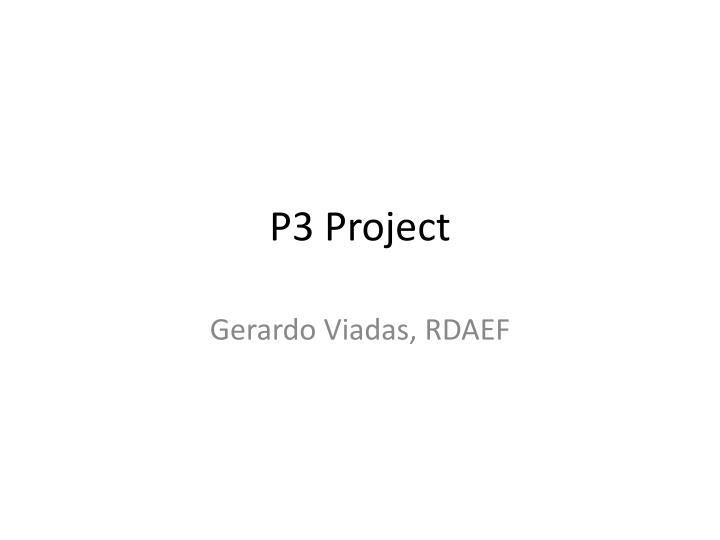 p3 project n.