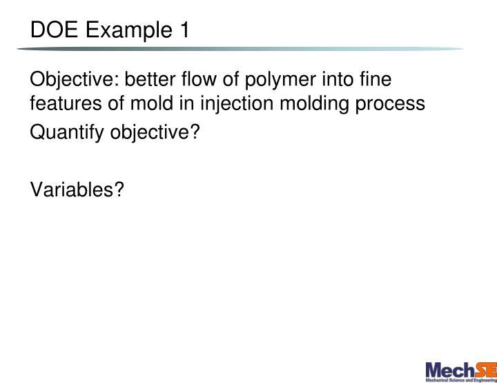 DOE Example 1