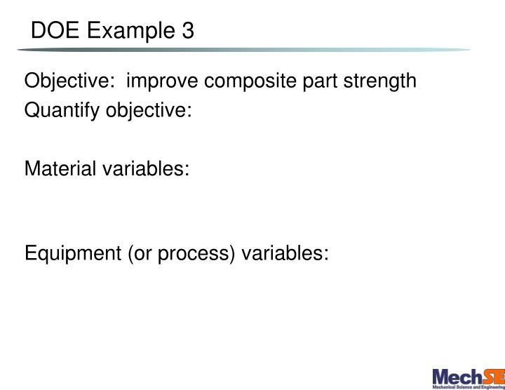 DOE Example 3