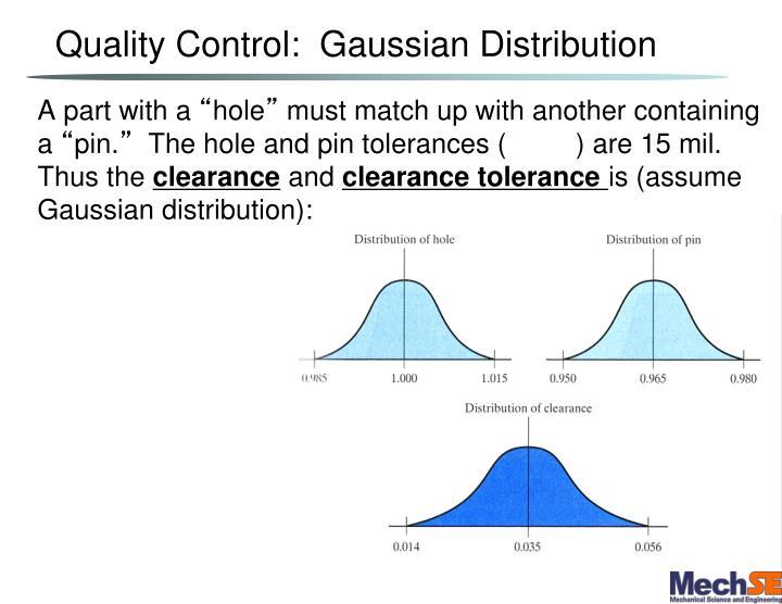 Quality Control:  Gaussian Distribution