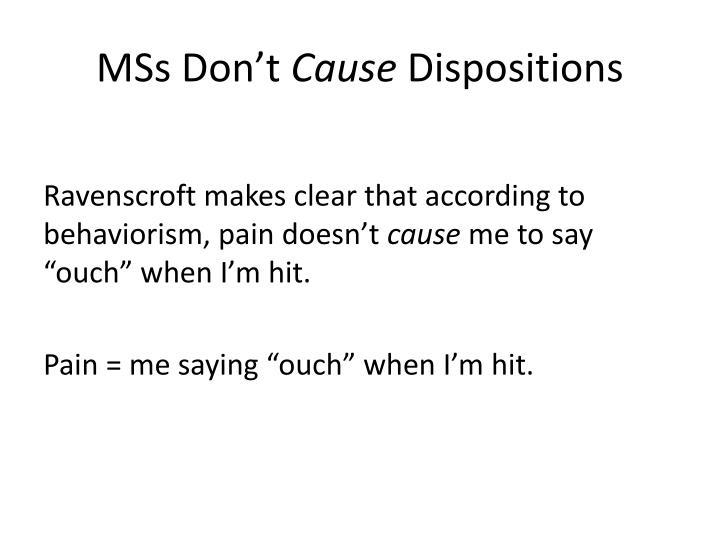 MSs Don't