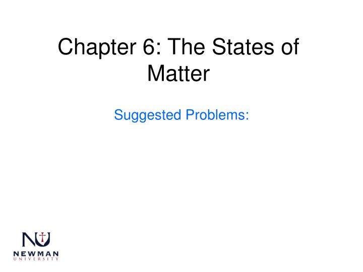 chapter 6 the states of matter n.