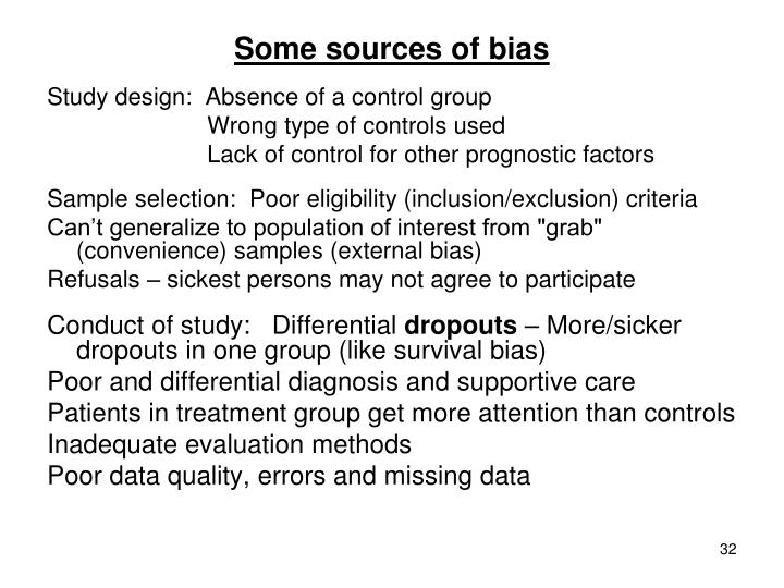 Some sources of bias