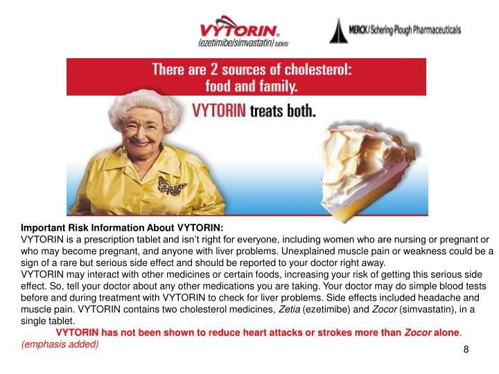 Important Risk Information About VYTORIN: