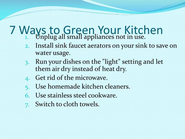 7 Ways to Green Your Kitchen