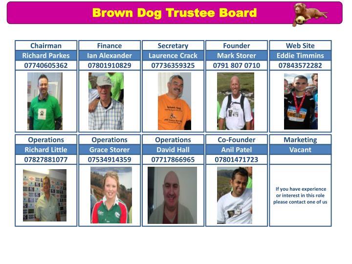 Brown Dog Trustee Board