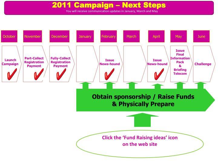 2011 Campaign – Next Steps