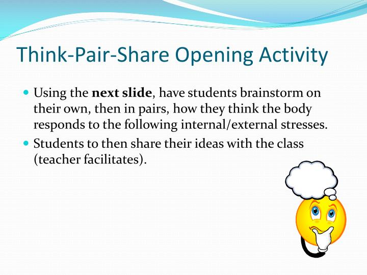 Think-Pair-Share Opening Activity