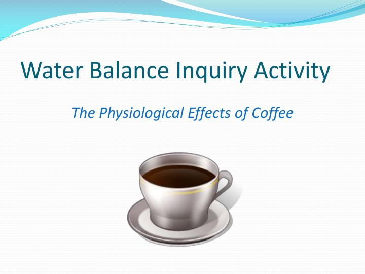 Water Balance Inquiry Activity
