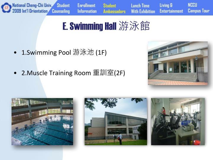 E. Swimming Hall
