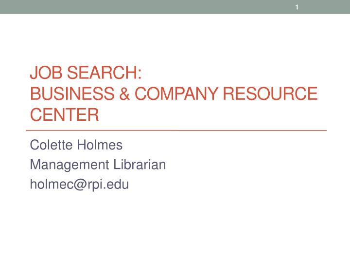 job search business company resource center n.