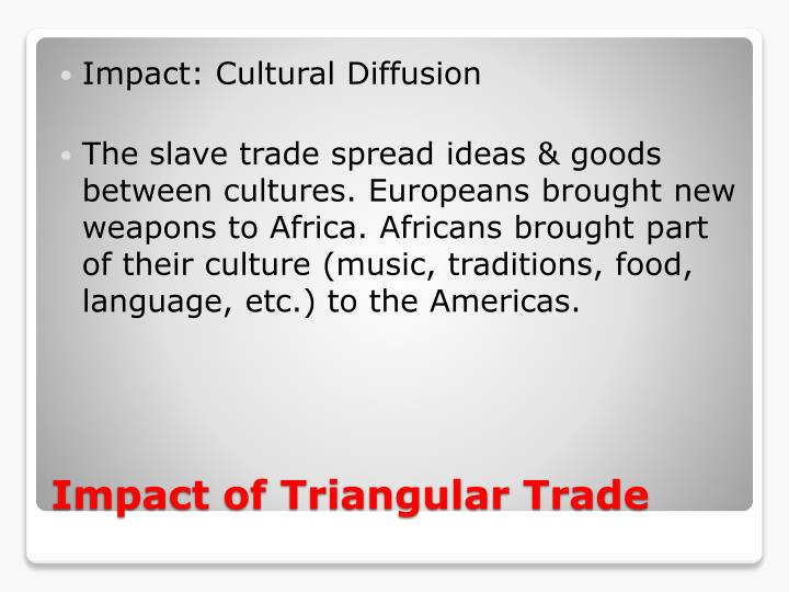 Impact: Cultural Diffusion