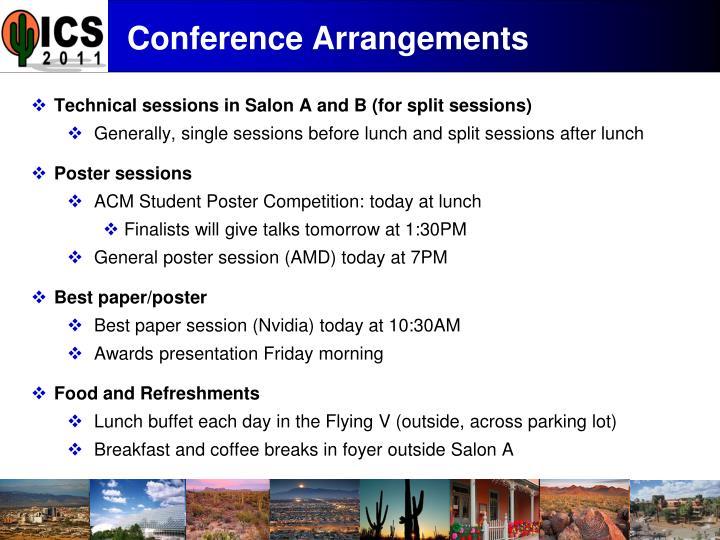 Conference Arrangements