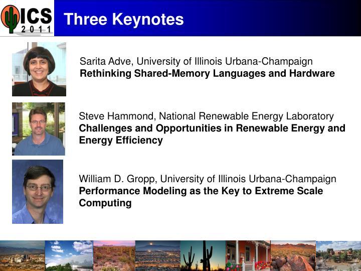 Three keynotes