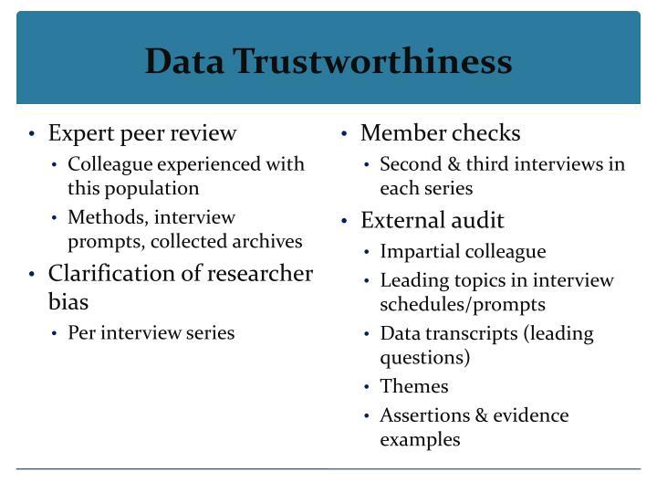 Data Trustworthiness