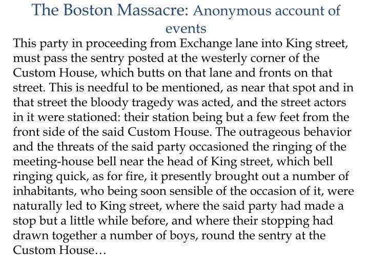The Boston Massacre: