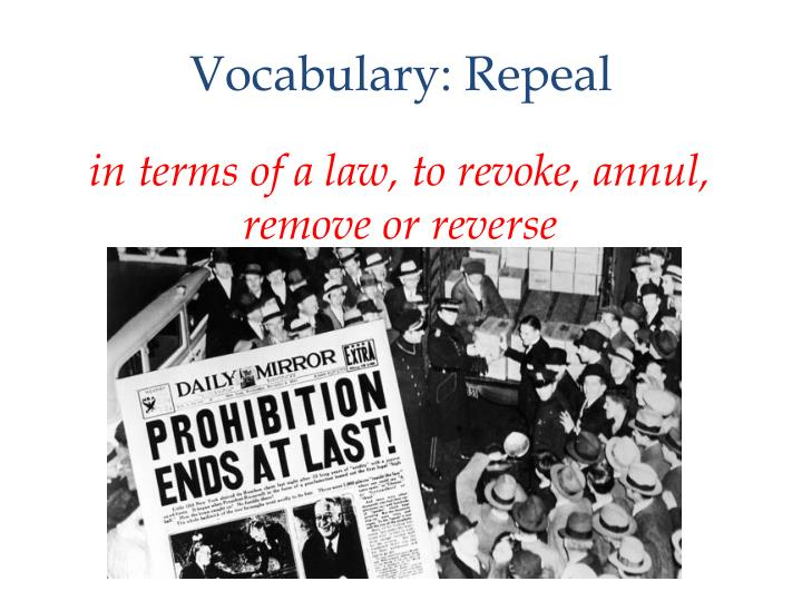 Vocabulary: Repeal