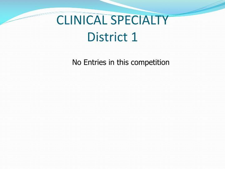 CLINICAL SPECIALTY