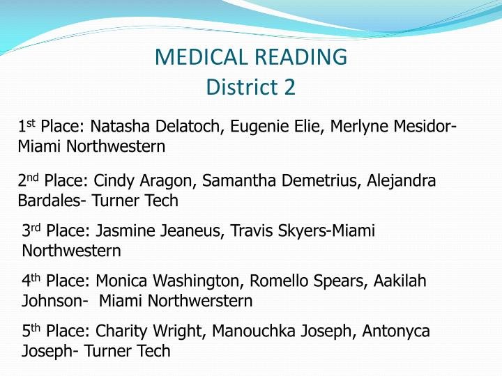 MEDICAL READING