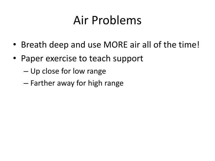 Air Problems
