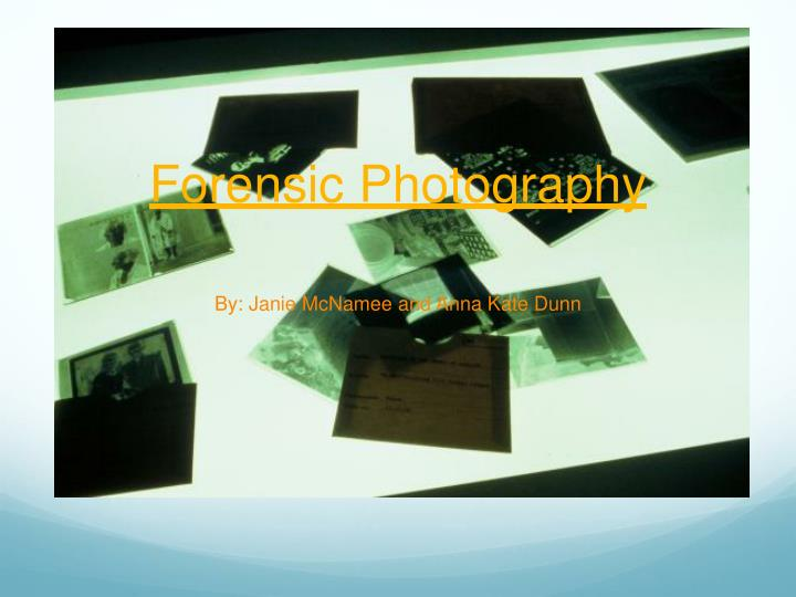 forensic photography n.