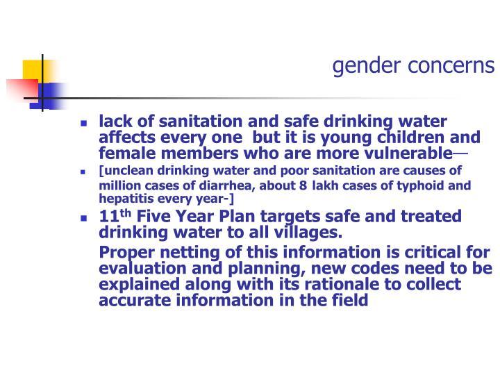 gender concerns