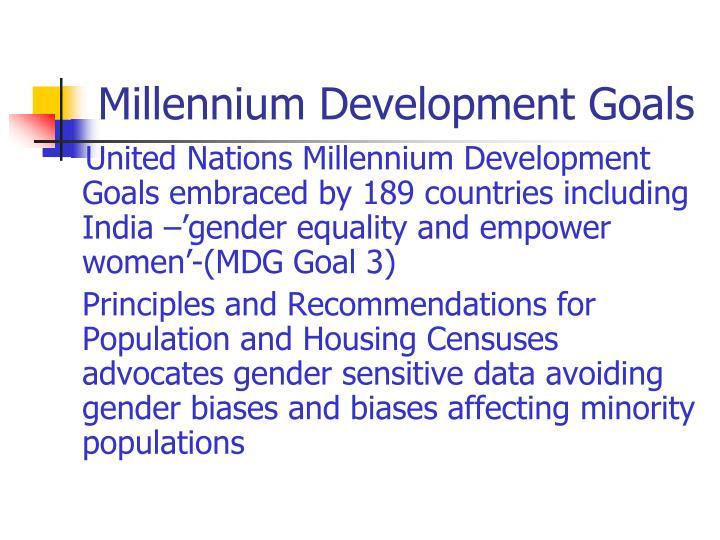 Millennium development goals
