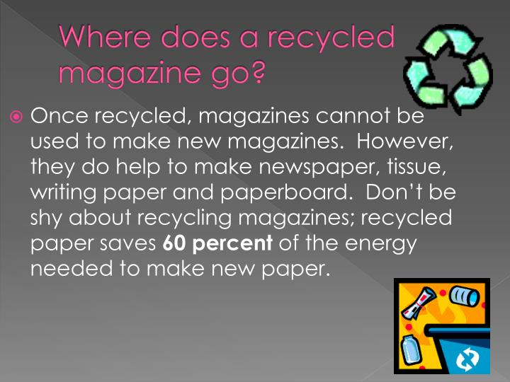 Where does a recycled magazine go?