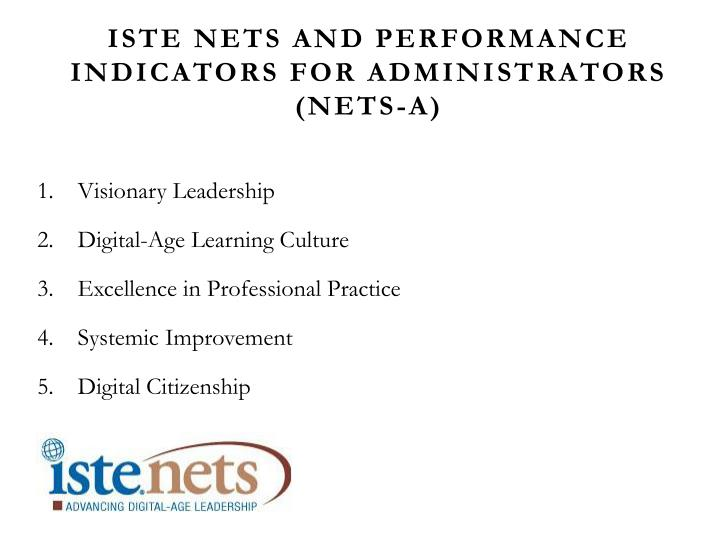 ISTE NETS and Performance Indicators for Administrators (NETS-A)
