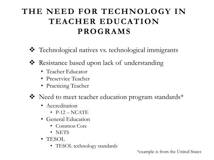 The Need For Technology in Teacher Education