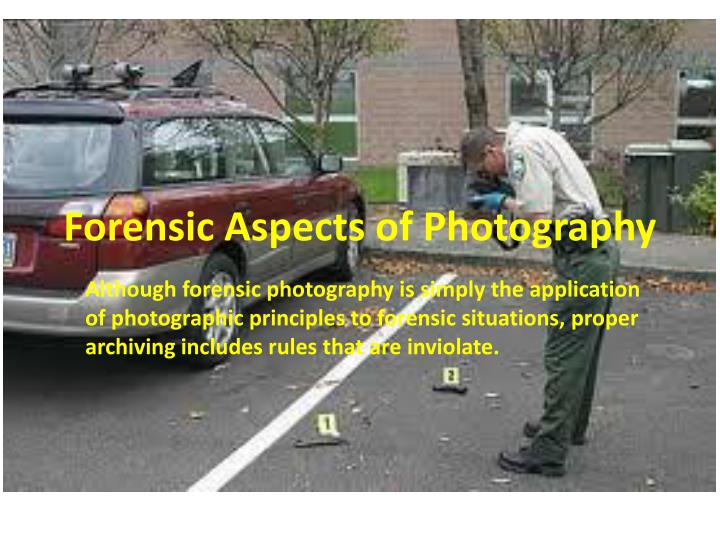 forensic aspects of photography n.