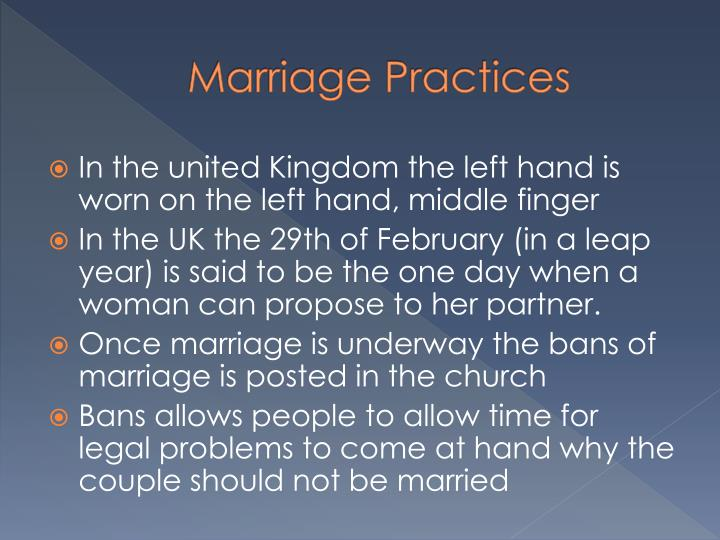 Marriage Practices