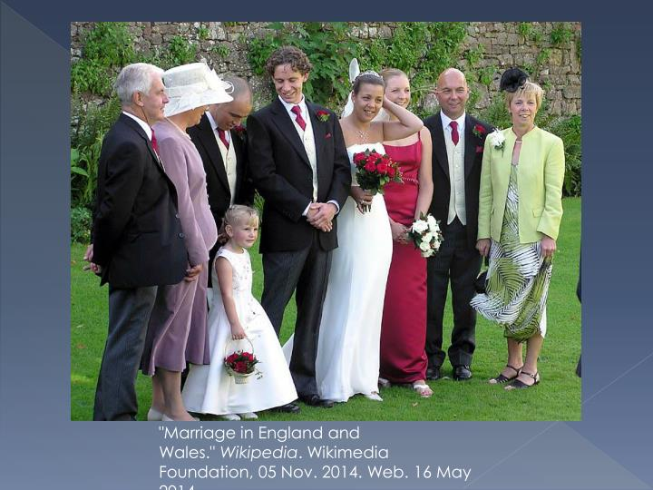 """""""Marriage in England and Wales."""""""