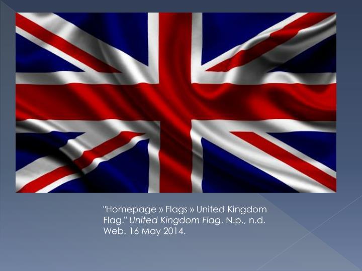 """""""Homepage » Flags » United Kingdom Flag."""""""