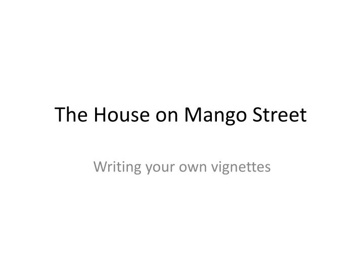 LitCharts assigns a color and icon to each theme in The House on Mango Street which you can use to track the themes throughout the work Cosby Matt The