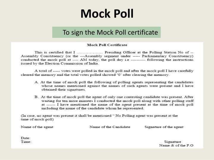 Mock Poll