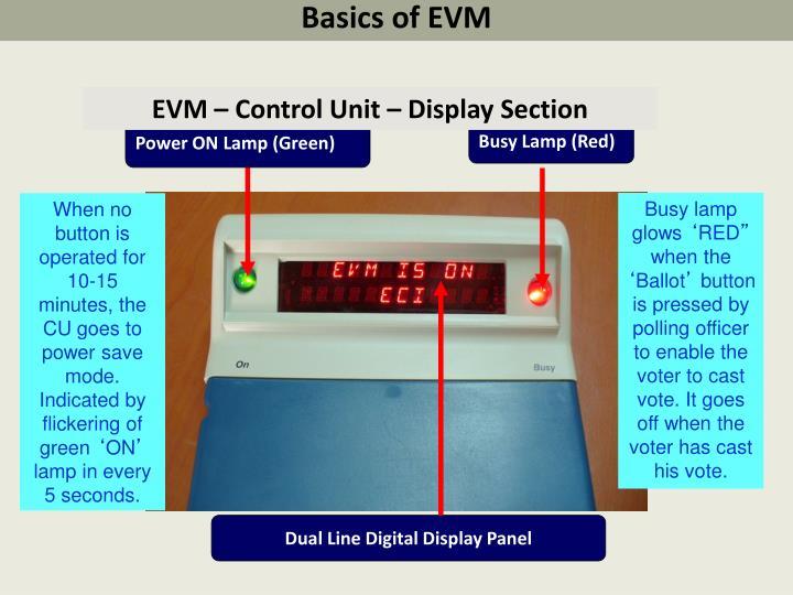 Basics of EVM
