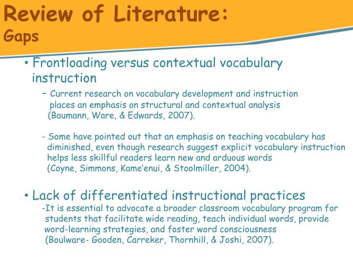 literature review on differentiated instruction