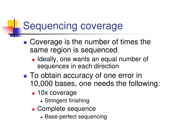 Sequencing coverage