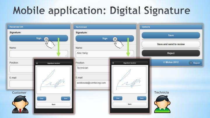 Mobile application: Digital Signature